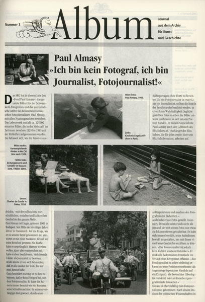 Album, AKG Journal Nr. 3 1995