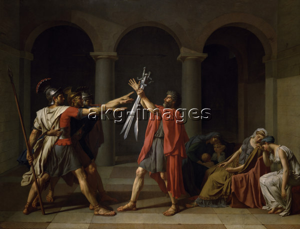 J.L.David, Schwur der Horatier - David / The Oath of the Horatii / 1784 - David / Le Serment des Horaces / 1784