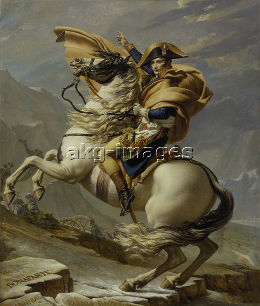 Napoleon,Gr.St.Bernhard/ David - Napoleon in the Alps / David / 1800 - Bonaparte / Grand St.Bernard / David