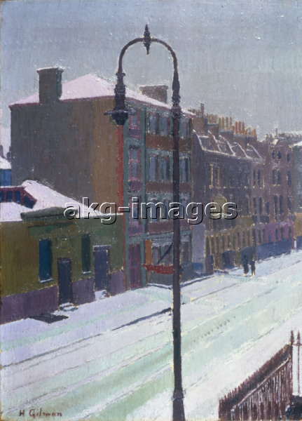 H.Gilman, London Street in Snow, 1917.