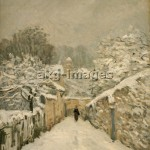 Sisley / Snow in Louveciennes