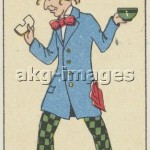 The Mad Hatter Carreras Cigarette Card