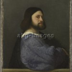 Titian / A Man with a Quilted Sleeve