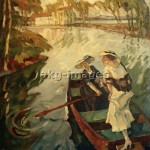 "2-R20-B2-1910-1 ""Sunny river outing"" by Leo Putz. © akg-images"