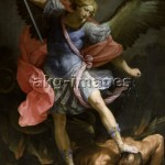 2-R42-Q10-1635 Guido Reni, 'Sating Michael fighting with Satan', 1635, © akg-images / Pirozzi