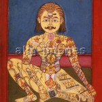 2-V40-I1-1760-118 A yogi covered in tattoos from head to foot © akg-images / British Library