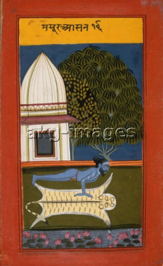 2-V40-I1-1760-18 Yogi in Peacock Pose / Indian miniature © akg-images / British Library
