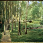 House on the Wannsee, birch grove facing west, 1919. Oil on canvas, 66 x 82 cm. akg-images