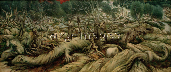 "2-L13-A1-1900-62 Degouve de Nuncques ""The Mysterious Forest"", 1900 / Photo © akg-images"