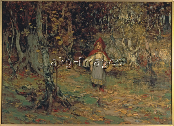 """2-L42-R2-1899-1 Thomas Bromley Blacklock / """"Red Riding Hood"""", 1899 / Photo © Sotheby's / akg-images"""