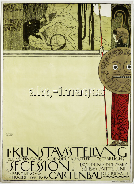 2-A71-A1-1893-1 / Klimt, Gustav 1862-1918. - Poster for the first exhibition of the Secession (After censorship), 1898. / © akg-images / Erich Lessing