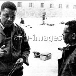 "- Nelson Mandela (l) and Walter Sisulu   in prison on ""Robben Island"" near Cape   Town after being sentenced to life       imprisonment for high treason on 13 June 1964.-  photo: africanpictures / akg"