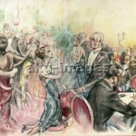 Scene in a Berlin dance cafe.  Drawing by Hans Leu, c.1928. akg-images