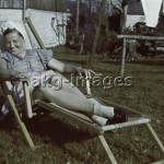 Glashütte, Germany, 1940. A young woman in a deckchair. Photo, akg-images