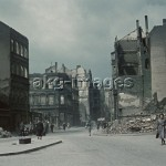 Wuppertal, Germany, 1943. Bomb damage in the streets. Photo, akg-images