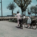 Merseburg, Germany, 1944. Young women on a bicycle tour. Photo, akg-images / DDR Bildarchiv