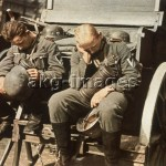 Paris, 1940, Werhmacht soldiers asleep after marching into Paris. Photo, akg-images