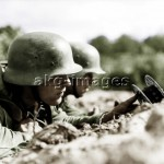Russian campaign, 1941, Wehrmacht soldiers. Photo, akg-images
