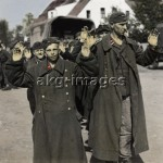 Bremen, Gemany, 1945. German soldiers surrendering to the 2nd British army. Photo, akg-images