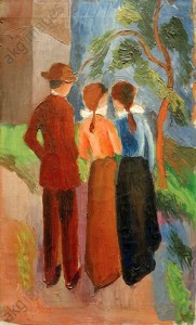 August Macke, Three taking a walk, © akg-images