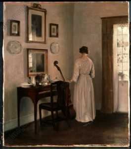 Carl Holsoe, Woman in an Interior, © Sotheby's / akg-images