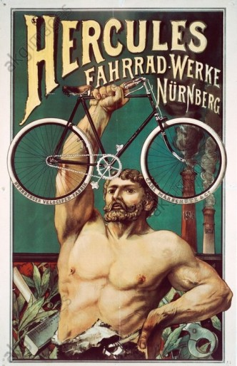 Hercules Bicycle Works, poster © akg-images