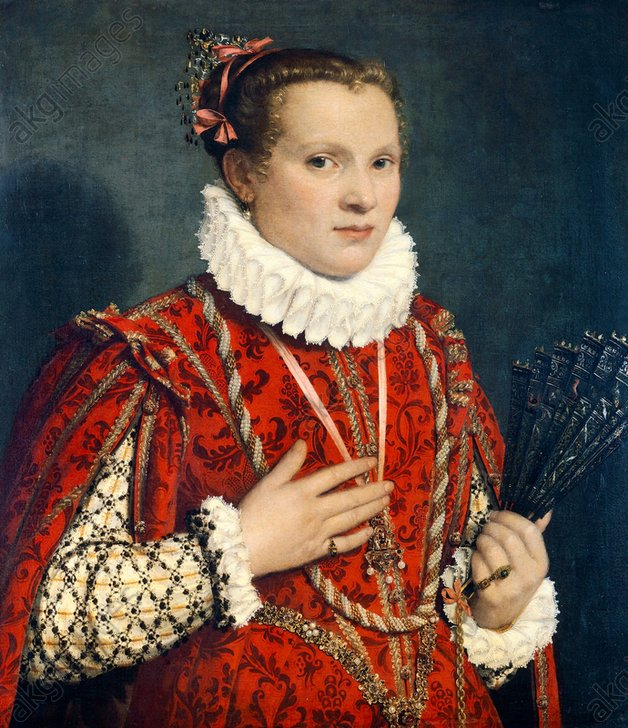 Moroni, Portrait of a Lady with a Fan