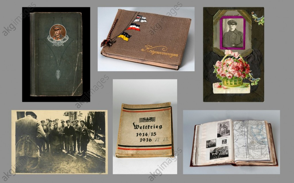 Personal photo albums from the First World War, photographed in 2013, ©akg-images