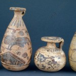Alabaster containers for perfume. © akg-images / De Agostini Picture Lib. / S. Vannini