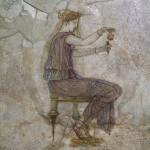 Young girl with perfume bottle. Roman hellenistic wall painting. © akg-images / Nimatallah