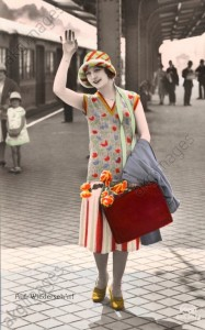 Farewell. Coloured postcard, c.1925 ©akg-images