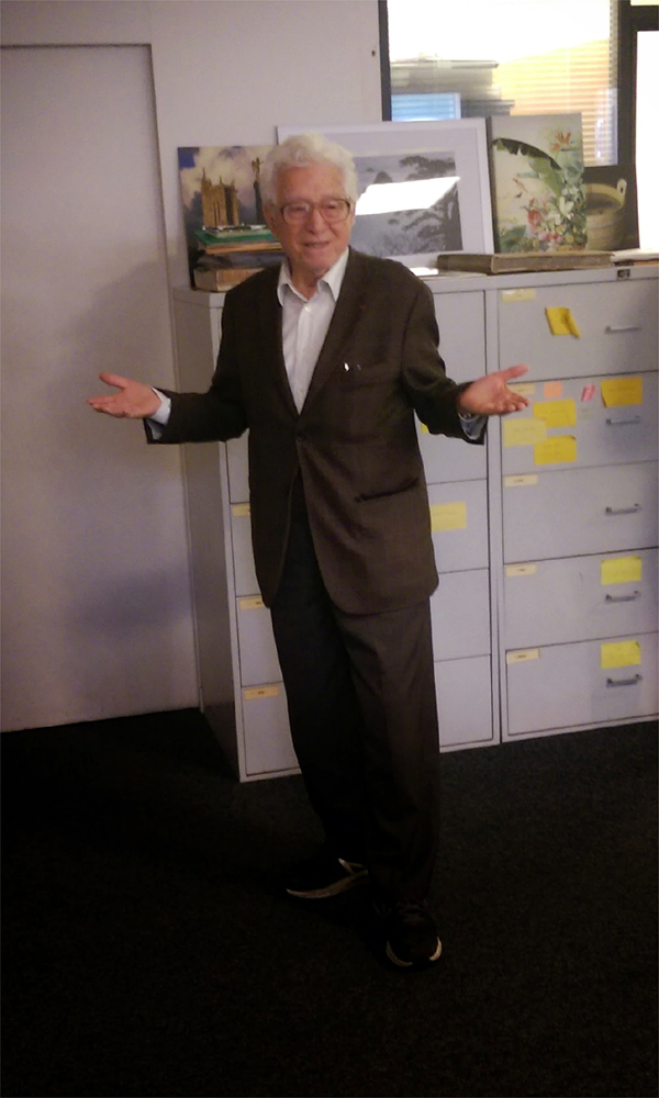 Tony Vaccaro at the akg-images offices in Paris, 26 January 2015