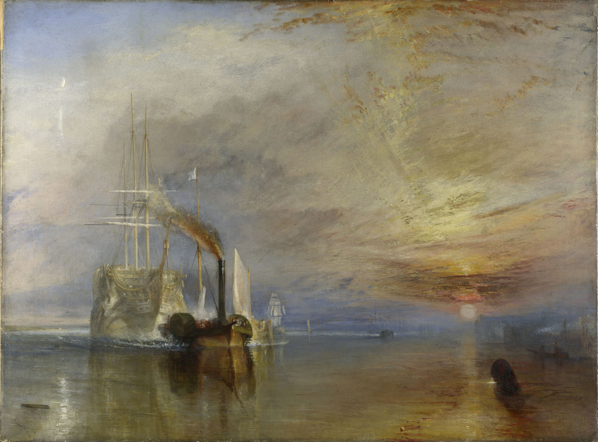 Turner, William 1775–1851. The Fighting Temeraire