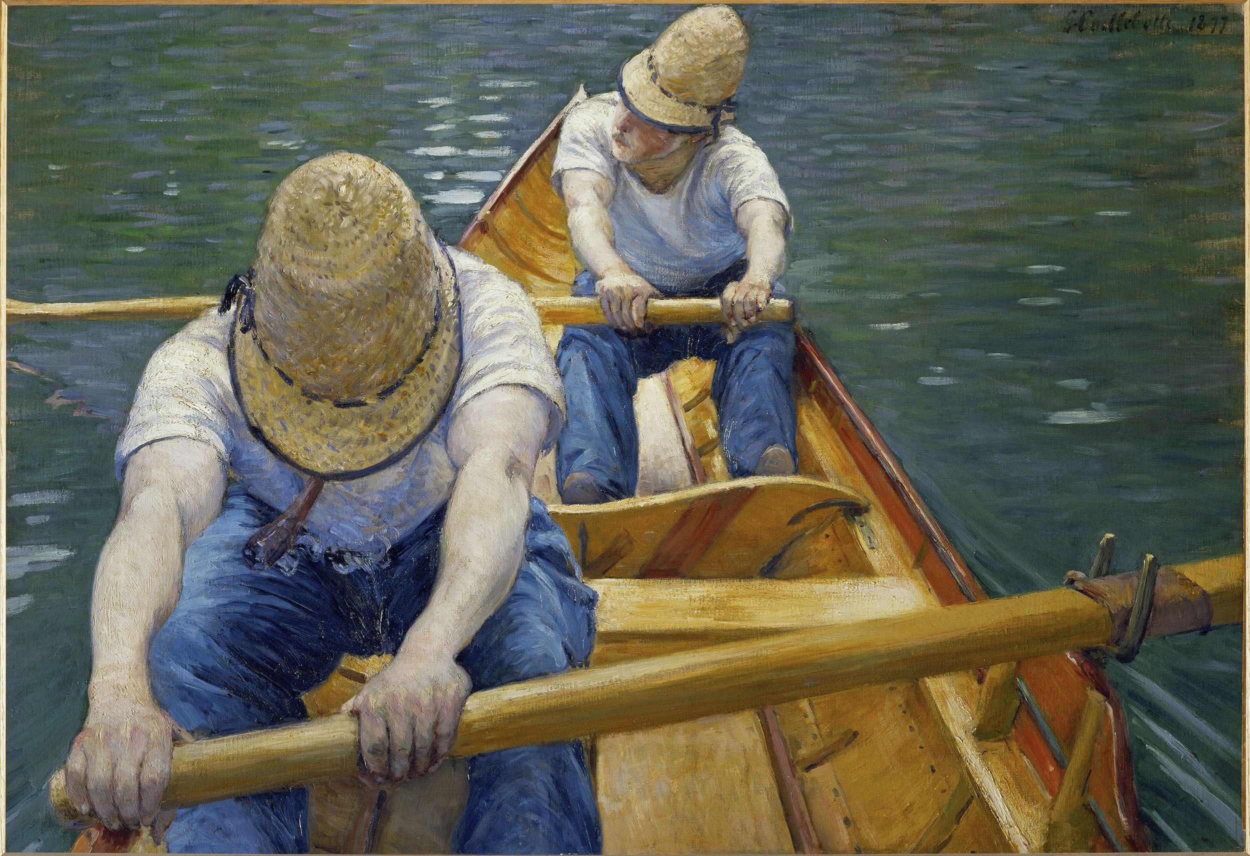 Caillebotte, Gustave 1848-1894. Canotiers (Ruderer)