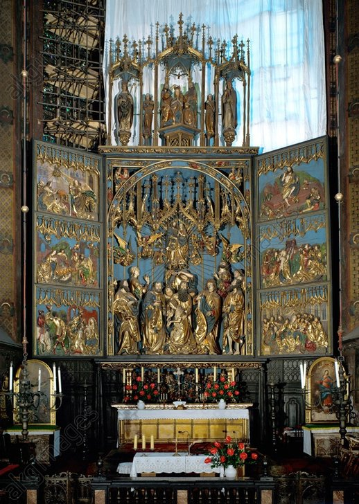 View of Veit Stoss's altarpiece in St. Mary's Basilica, Kraków © akg-images / Erich Lessing