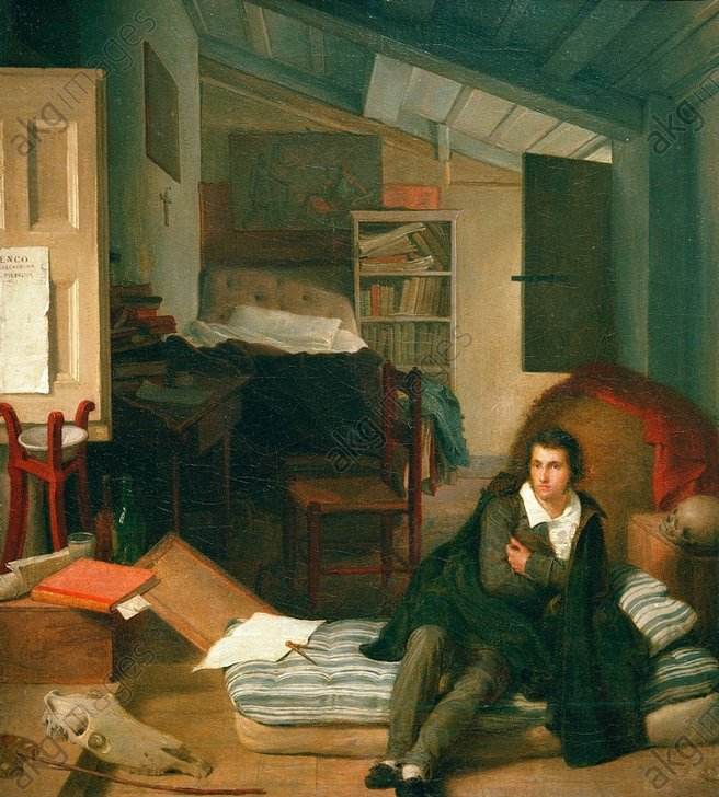 "Tommaso Minardi, ""Self-portrait in an attic"", circa 1813 © akg-images"