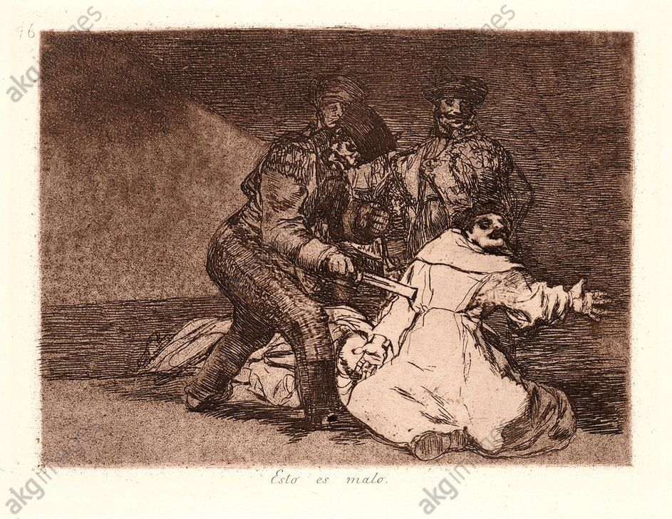 Francisco de Goya (Spanish, 1746–1828). This Is Bad (Esto Es Malo), 1810– 1815 (printed 1863). From The Disasters of War (Los Desastres de la Guerra). Etching and aquatint. Plate 46