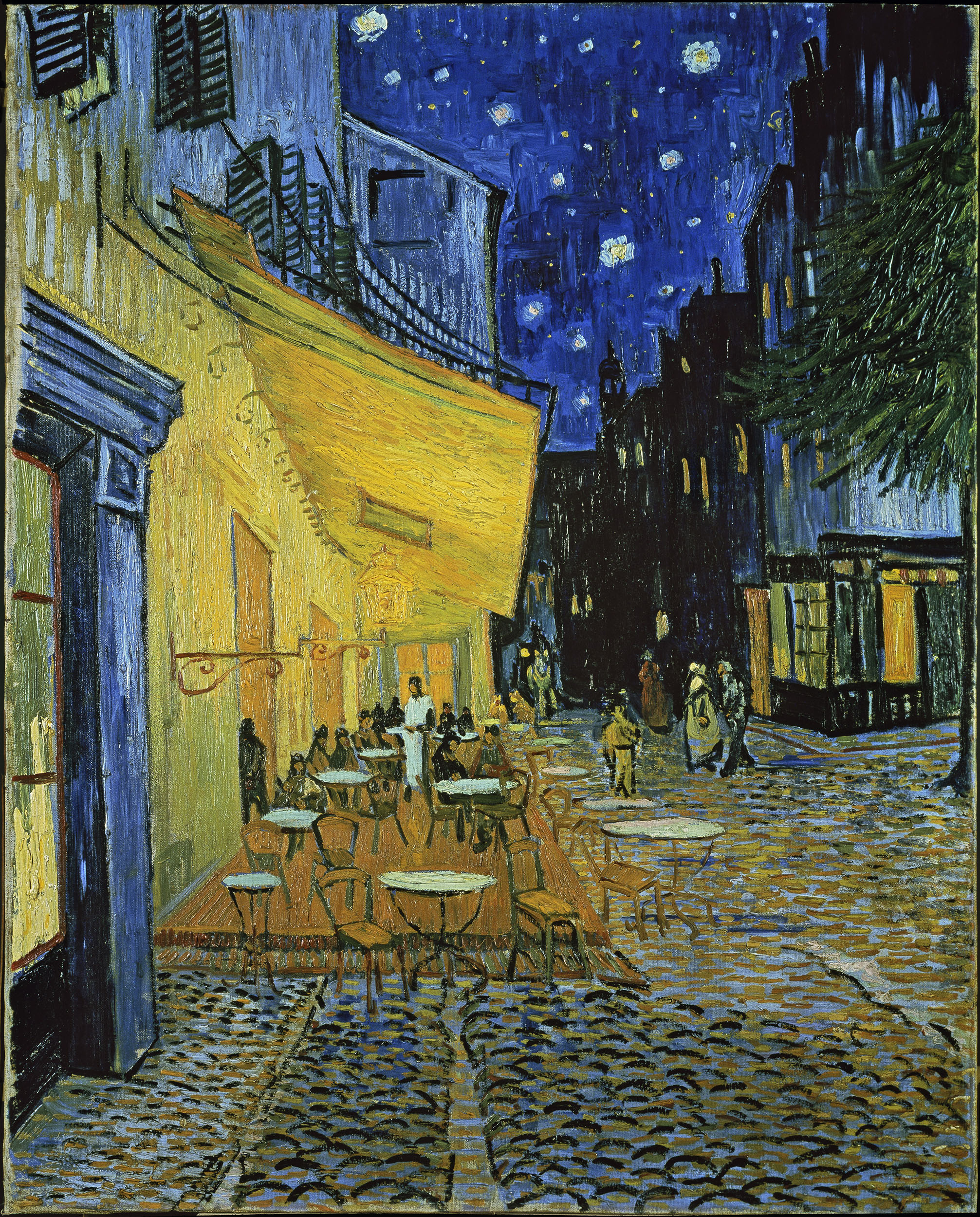 "Gogh, Vincent ""Terrasse des Cafés an der Place du Forum in Arles am Abend""."