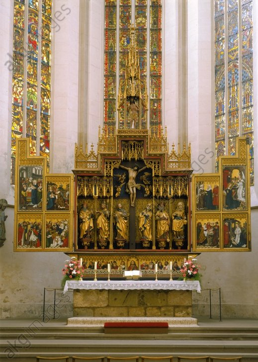 The Twelve Apostle Altar, 1466, in St James's Church, Rothenburg ob der Tauber<br />© akg-images / Bildarchiv Steffens